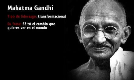 Tipo de liderazgo de Mahatma Gandhi: Líder transformador